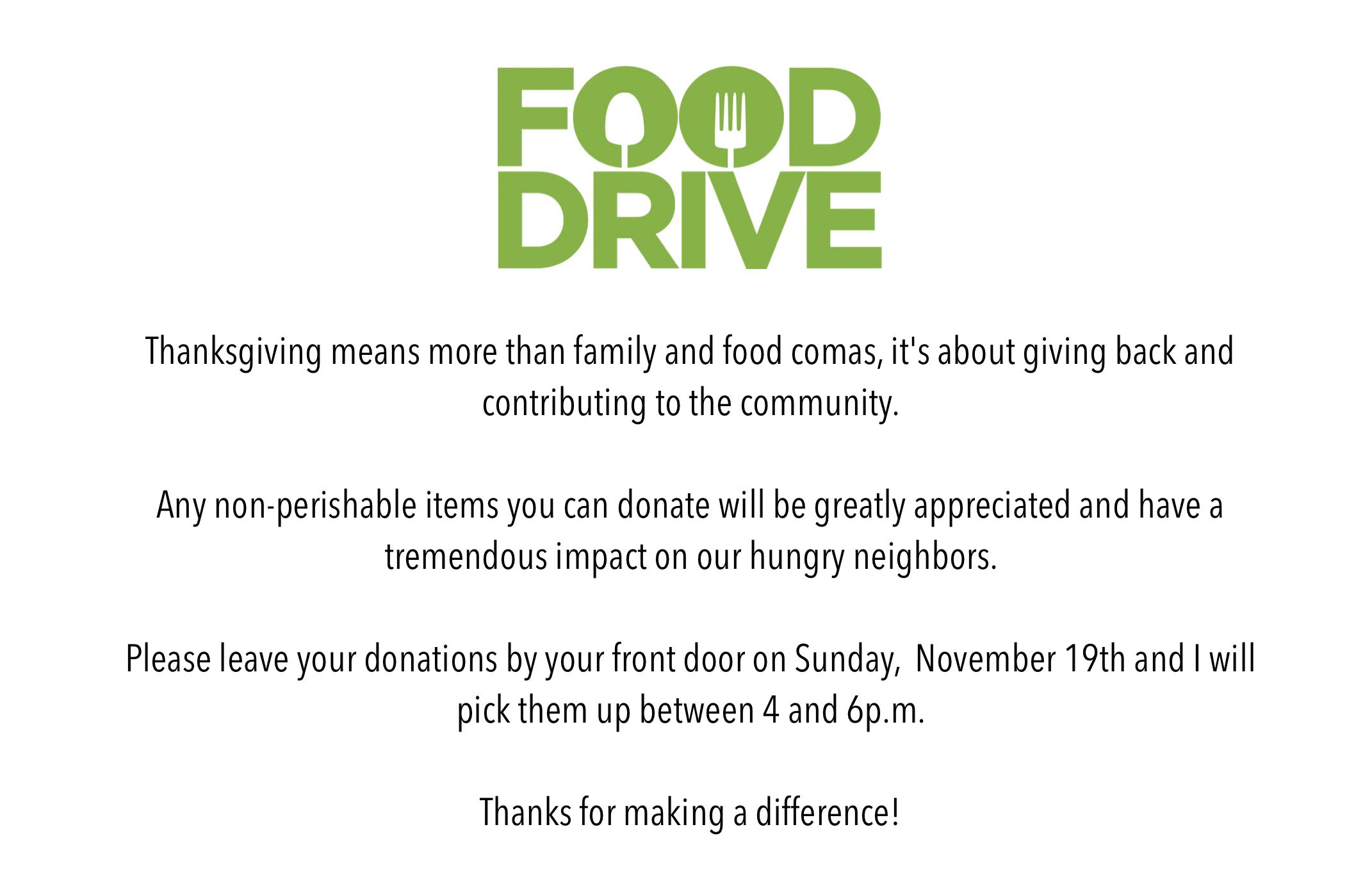 2017 Charity Food Drive