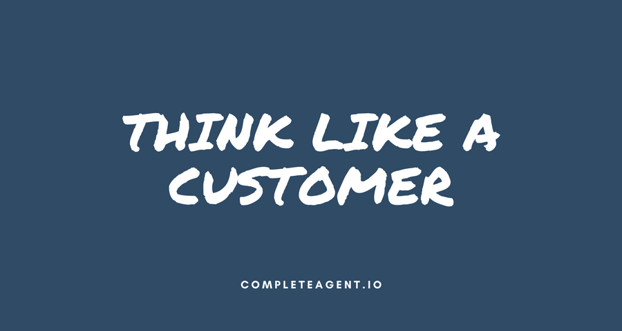 think like a customer