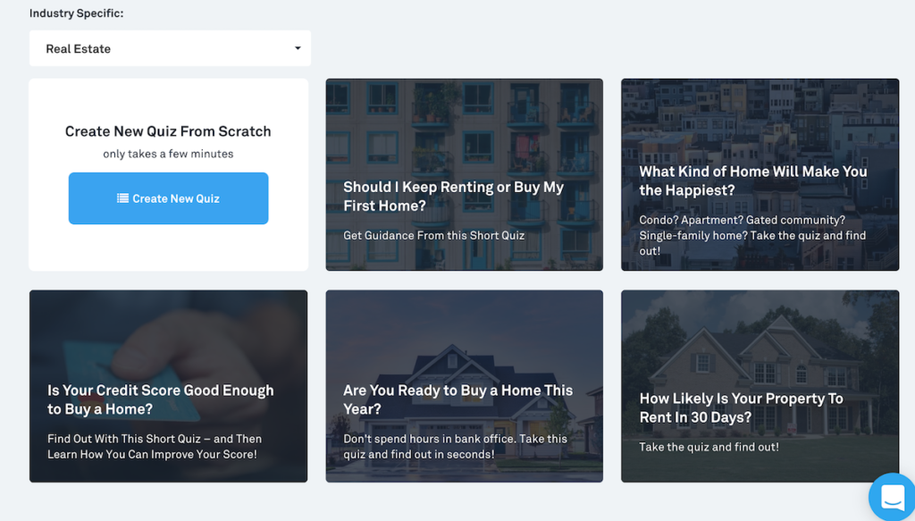 lead quiz templates for real estate agents